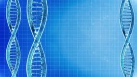 Rotazione delle molecole del DNA stock footage