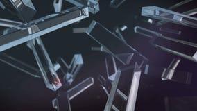 Rotazione di cristallo del rectagle illustrazione di stock