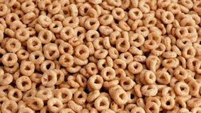 Rotazione dorata dei cerchi del cereale stock footage