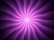 Rotazione a spirale viola dei raggi luminosi Fotografia Stock Libera da Diritti