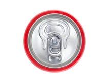 Rotdose Soda, Ansicht von der Spitze Lizenzfreie Stockfotos