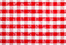 Rote überprüfte Gewebetischdecke Lizenzfreie Stockfotos