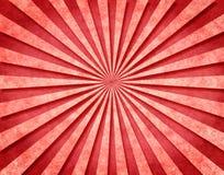 Rote 3-D Sunbeams Stockbild