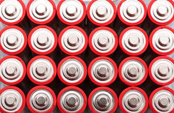 Rote AA-Batterien Stockfotos