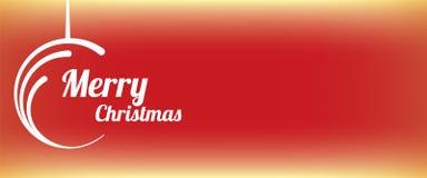 Rote abstrakte Kreisfahne der frohen Weihnachten Lizenzfreie Stockfotografie
