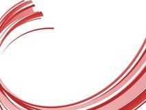 Rote abstrakte Welle Stockbild