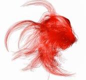Rote abstrakte Zahl von den Fasern auf einem Wei? Wiedergabe 3d lizenzfreie abbildung