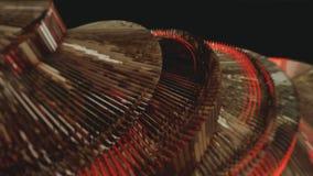 Rote Abstraktion auf einem schwarzen Hintergrund Stockfoto