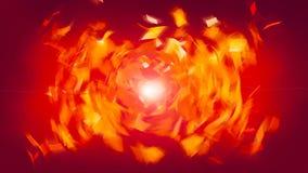 Rote Abstraktion mit Quadraten - Verzerrung des Raumes mit glänzendem Effekt, computererzeugter Hintergrund, 3D übertragen stock footage