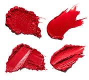 Rote Abstrichfarbe von kosmetischen Produkten Lizenzfreie Stockfotografie