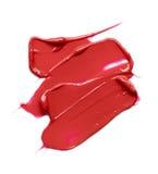 Rote Abstrichfarbe von kosmetischen Produkten Lizenzfreies Stockfoto
