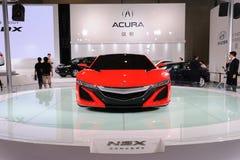 Rote Acura NSX Konzeptfrontseite Stockfotos