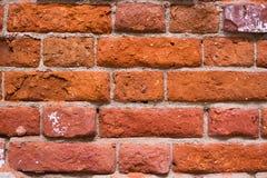 Rote alte Backsteinmauer Stockfoto