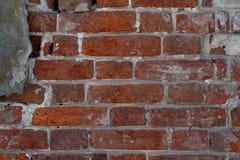 Rote alte Backsteinmauer, Hintergrund, Beschaffenheit, Nahaufnahme Lizenzfreie Stockfotografie