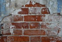 Rote alte Backsteinmauer, Hintergrund, Beschaffenheit, Nahaufnahme Stockbilder