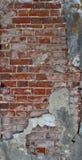 Rote alte Backsteinmauer, Hintergrund, Beschaffenheit, Nahaufnahme Stockfotos