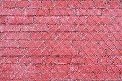 Rote alte Backsteinmauer mit Eisengitter Lizenzfreie Stockfotografie