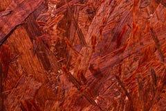 Rote alte gemalte Holzverkleidungen Stockfotografie