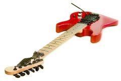 Rote alte Gitarre Lizenzfreie Stockbilder