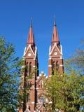 Rote alte Kirche, Litauen Stockfoto