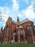 Rote alte Kirche, Litauen Stockfotos