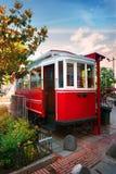 Rote alte Tram Lizenzfreies Stockbild