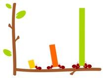 Rote Ameisen und Diagramteamwork-Abbildung Stockbilder
