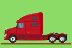 Rote amerikanische LKW-Kabine lokalisiert Lizenzfreie Stockfotos