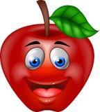 Rote Apfelkarikatur Stockfotografie