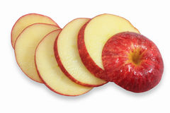 Rote Apfelscheiben Lizenzfreies Stockbild