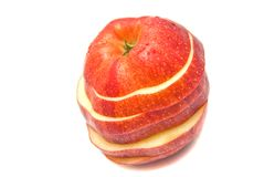 Rote Apfelscheiben lizenzfreies stockfoto