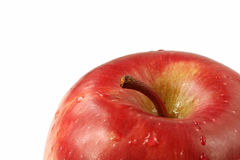 Rote Apple-Nahaufnahme Stockfoto