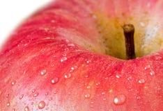 Rote Apple-Nahaufnahme Lizenzfreie Stockfotos