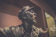 Rote Armee-Soldat-schreiendes-Jinggangshan Museum stockfotografie