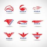 Rote Art des Eagle-Logodesigns 9 Lizenzfreies Stockfoto