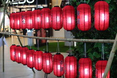 Rote asiatische Laternen Lizenzfreies Stockfoto