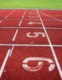 Rote athletische Spur Lizenzfreie Stockbilder