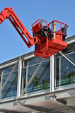 Rote Aufnahmevorrichtung des hydraulischen Aufbaus lizenzfreies stockbild