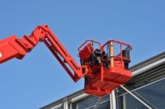 Rote Aufnahmevorrichtung des hydraulischen Aufbaus stockbilder