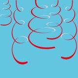 Rote Ausläufer auf Blau Lizenzfreie Stockbilder