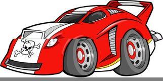 Rote Auto-Abbildung stock abbildung