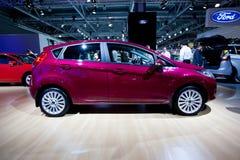 Rote Auto Ford-Fiesta Stockfotos