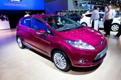 Rote Auto Ford-Fiesta Lizenzfreies Stockfoto
