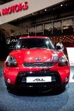Rote Auto Kia Seele Lizenzfreies Stockfoto