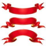 Rote Bänder Lizenzfreies Stockfoto