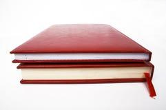 Rote Bücher stockbild