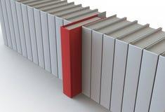 Rote Bücher Lizenzfreie Stockfotografie