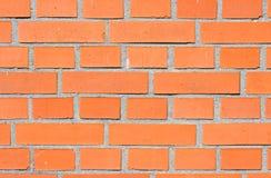 Rote Backsteinmauer. Stockfoto