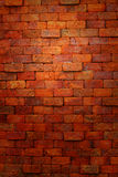 Rote Backsteinmauer. Lizenzfreies Stockfoto