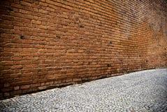Rote Backsteinmauer Lizenzfreie Stockfotos
